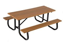 recycled plastic picnic tables 8 ft heavy duty recycled plastic picnic table with welded