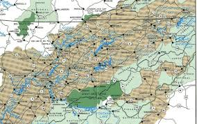 Tennessee lakes images East tn lake map jpg