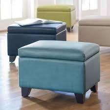 Storage Ottoman Blue Brilliant Amazing Blue Storage Ottoman Bench In Leather