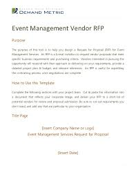 rfp cover letter template sle rfp template
