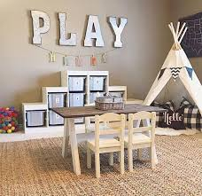 Teepee Dining Table Play Area With A Teepee A Table For Drawing And A Shelving Unit