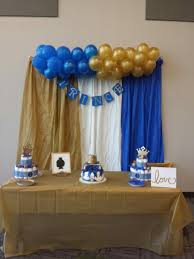 royal blue and gold baby shower decorations royal blue and gold prince themed baby shower party ideas