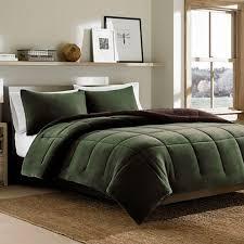 Eddie Bauer Bedroom Furniture by Eddie Bauer Reversible Premium Fleece Dark Pinecomforter Set