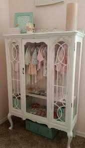 best 25 china cabinet display ideas on pinterest how to display this is a vintage china hutch turned baby closet i would love to do this for my girls their american girl dolls their accessories