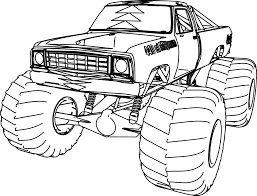 monster trucks drawings page 10 grig3 free coloring page images