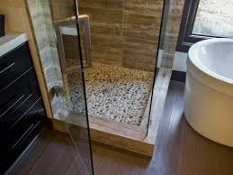 pebble tile in walk in shower pebble tile adds texture to