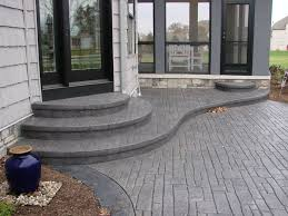 Concrete Decks And Patios Cozy Look Stamped Concrete Patio Pattern With Colors Option