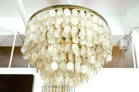 Seashell Light Fixture Shell Light Fixtures Vintge Chndelier Brss Frme Seashell Light