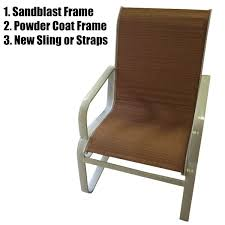 Patio Chair Strapping Commercial Pool Furniture Patio Furniture Repair Refinishing