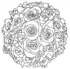 drawings of flower bouquet flower bouquet coloring pages bouquet