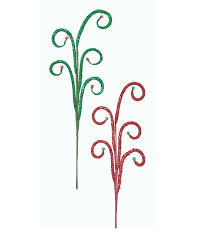 White Metal Christmas Tree Decorations by Beaded Swirls Stem Christmas Tree Decoration