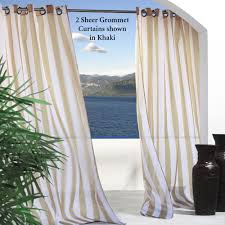 Outdoors Shower Curtain by Escape Stripe Outdoor Grommet Curtain Panels