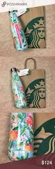 Lilly Pulitzer For Starbucks Lilly Pulitzer Starbucks Blue Peach Swell Bottle New With Tags