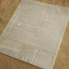 paper wrapped soap 200 pcs white newspaper design sandwich wrapping paper greaseproof