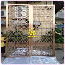 Metal Room Divider Laser Cut Stainless Steel Decorative Room Divider Door Foshan