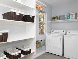 custom diy wood wall mounted shelving units over washer dryer