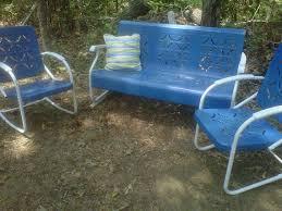 Metal Patio Furniture by 1950s Yard Furniture Ah Yes The Metal Patio Furniture Would Burn