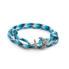 anchor bracelet silver images Silver anchor bracelet aqua jordi buoy jpg