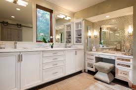 makeup vanity with sink refined rustic master suite karen kempf interiors master bath