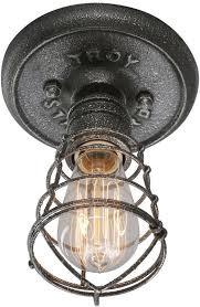wrought iron flush mount lighting view the troy lighting c3810 conduit 1 light wrought iron flush