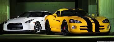 Nissan Gtr Yellow - nissan gtr and dodge viper hd desktop wallpaper widescreen