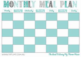 monthly dinner planner template printables the road to loving my thermo mixer monthly meal plan fb