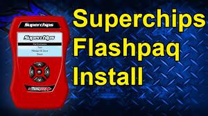 superchips flashpaq install 2005 dodge cummins 3840 youtube