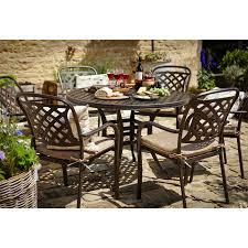 6 Seater Patio Furniture Set - hartman berkeley round garden furniture set with parasol 6