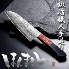f s shigehiro kitchen knife santoku damascus vg 10 handmade