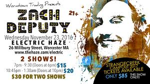 wormtown presents zach deputy on thanksgiving two shows