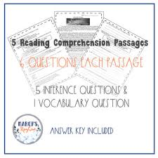 comprehension passages 4th grade and 5th grade inference practice