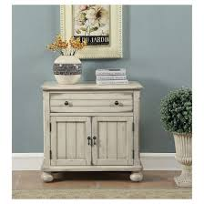french country two door one drawer cabinet distress sand