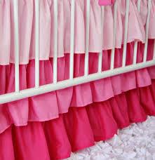 girly zig zag ruffle crib bedding set by caden lane