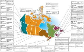 Canadian Provinces Map Map Of Canada With Labels Label Canadian Provinces Map Printout
