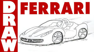 ferrari sketch side view how to draw a ferrari 458 spyder youtube