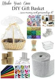 create your own gift basket how to make a gift basket and personalize it setting for four