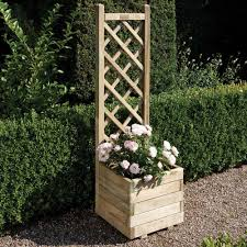 1 5 x 1 5 ft wooden square garden planter u0026 lattice panel