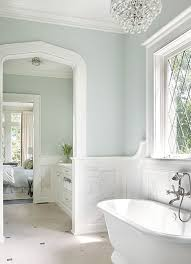 Bathrooms With Wainscoting Bathroom With Marble Wainscoting Transitional Bathroom