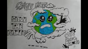 cara membuat poster manual membuat poster pemanasan global global warming youtube