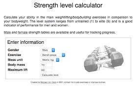 Calculate Your Max Bench Building Strength Level