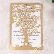 Tree Wedding Invitations Unique Design Elegant Tree Laser Cut Wedding Invitations Wpl0033