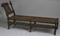 william and mary style carved and caned oak daybed sale number