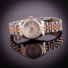 rolex bracelet diamonds images Ladies pre owned unworn rolex datejust steel rose gold diamond jpg