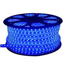 blue led rope light outdoor event lighting deck decorative light