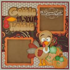blj studio thanksgiving fall turkey scrapbook layout