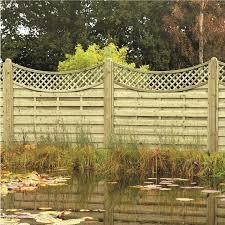 arched lattice top decorative garden fencing ringwood fencing