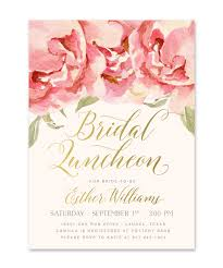 wedding luncheon invitations everly bridal shower luncheon invitation pink roses gold sea