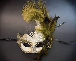 mardi gras mask with feathers feather masquerade mask masquerade mask ivory gold