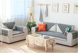 canap largeur 70 cm largeur coton canapé serviette à carreaux sectinal housse de