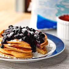 Blueberry Pancake Recipe Easy Homemade Blueberry Sauce Recipe Pinch Of Yum
